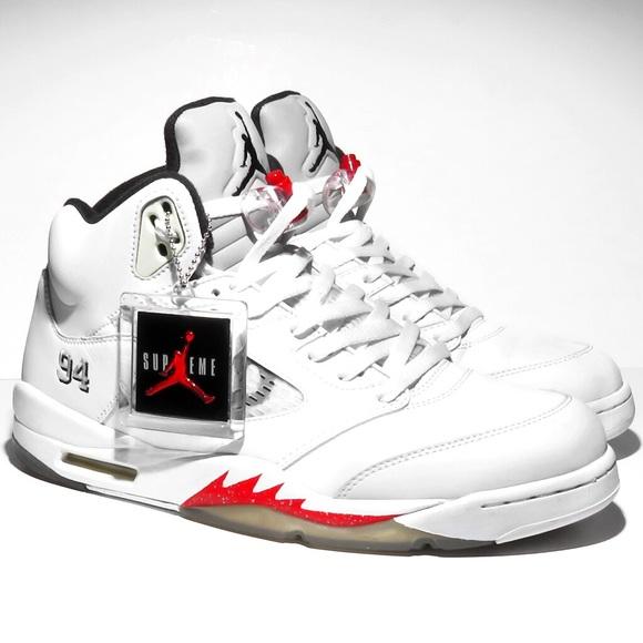 check out a327a 6e43f Nike Air Jordan 5 Retro x Supreme Varsity Red